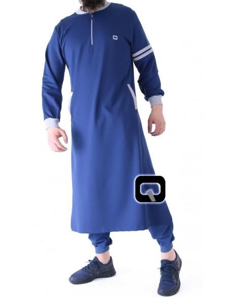Qamis jogging qaba'il roadster indigo