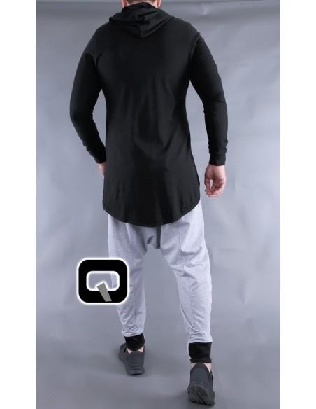 Tee Shirt Manches Longues Noir-Qaba'il