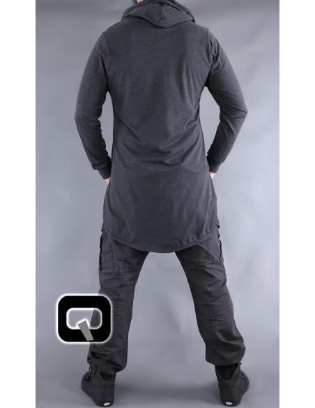 Tee Shirt Manches Longues Gris Foncé-Qaba'il
