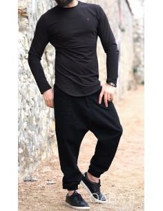 Sweat Manches Longues Noir-Qabail