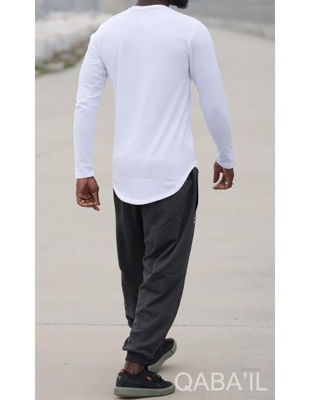 Sweat Manches Longues Blanc-Qabail