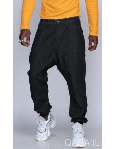 Sarouel Pants Jeans Noir-Qaba'il