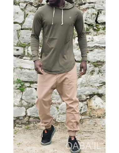 Tee Shirt Manches Longues Kaki-Qaba'il