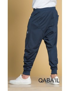 Sarouel Jogging Long bleu -Qaba'il
