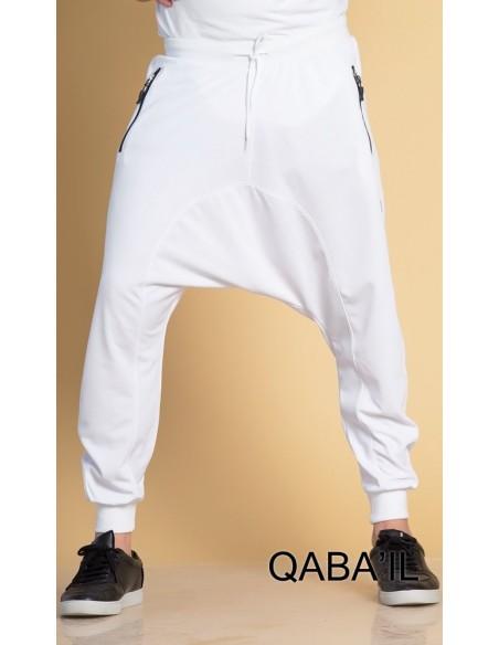 Sarouel Jogging Long blanc -Qaba'il