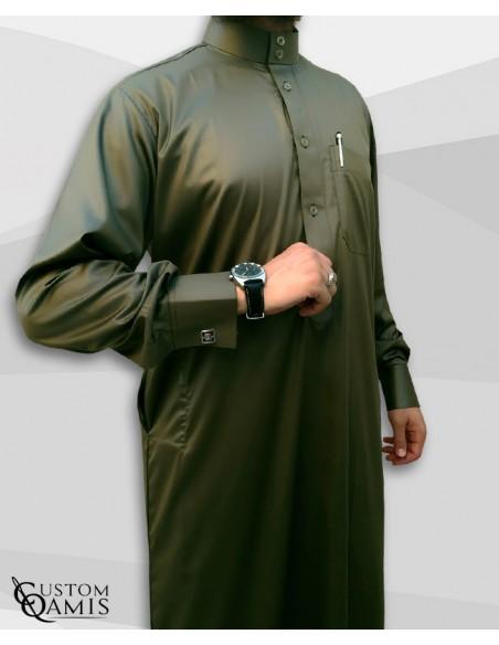 Qamis Saoudien Vert Kaki-Custom Qamis