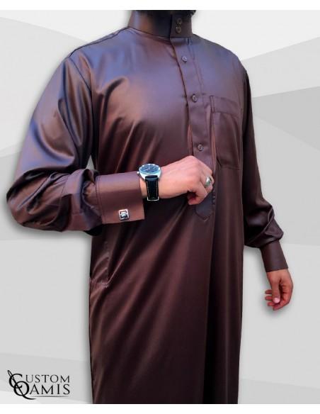 Qamis Saoudien Marron -Custom Qamis