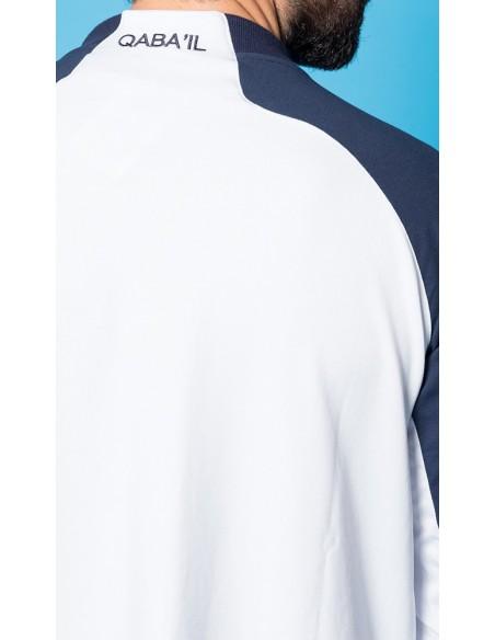 Qamis Long Line Blanc /Bleu -Qaba'il
