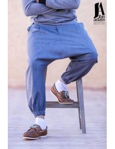 Sarouel Hilal Classic Gris Bleu -Ibn Adam