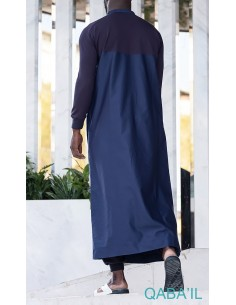 Qamis Qantik Bleu-Qaba'il