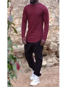 Sweat Manches Longues Bordeaux-Qaba'il