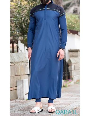 Qamis Classique II Bleu Indigo-Qaba'il