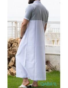 Qamis Navy II Blanc/Gris