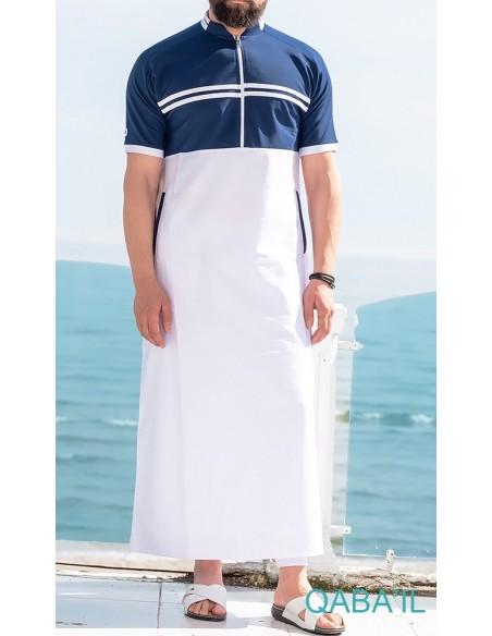 Qamis Navy II Blanc / Indigo-Qaba'il