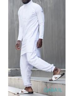 Qamis Boss Blanc-Qaba'il