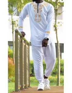Sweat Etniz Africain Blanc -Qaba'il