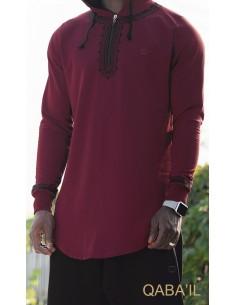 Sweat Etniz Marocain Rouge-Qaba'il