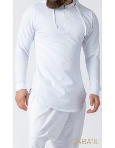 Sweat Etniz Marocain Blanc-Qaba'il