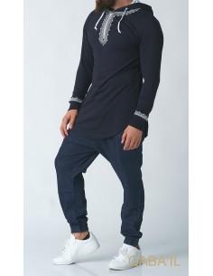 Sweat Etniz Marocain Bleu - Qaba'il