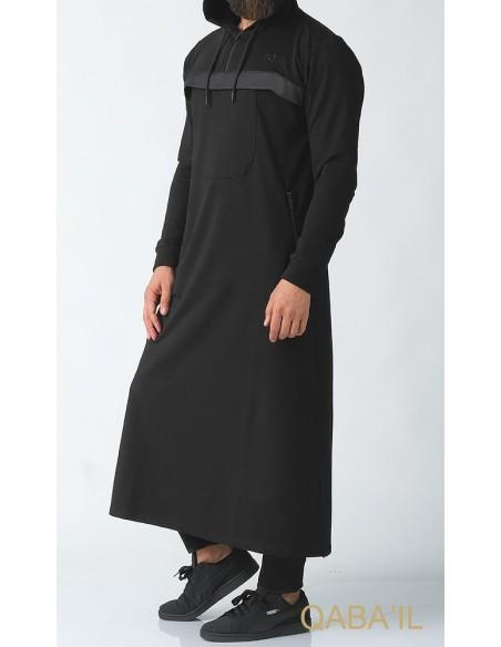 Qamis Furtif Noir-Qaba'il