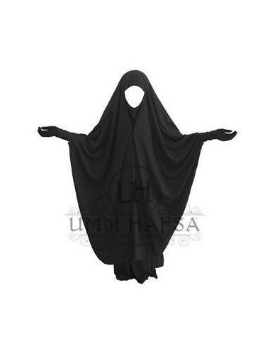 Jilbeb 2 pièces à clips Noir - Umm Hafsa