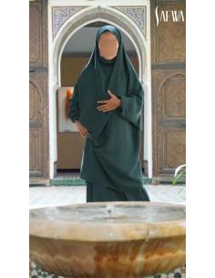 Jilbab Enfant Vert Sapin