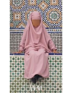 Jilbab Enfant Rose