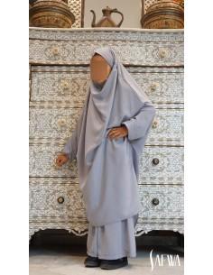 Jilbab Enfant Gris