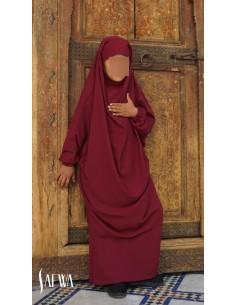 Jilbab Enfant Rouge