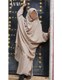 Jilbab Enfant Beige