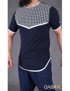 Tee Shirt Keffieh Bleu Nuit-Qaba'il