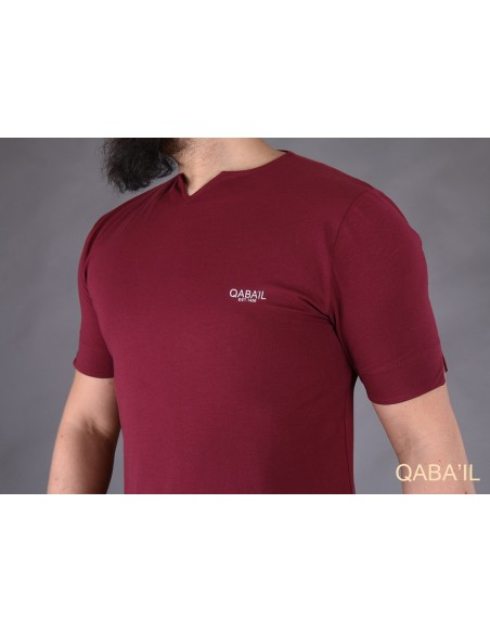 Tee Shirt Level Bordeaux-Qaba'il