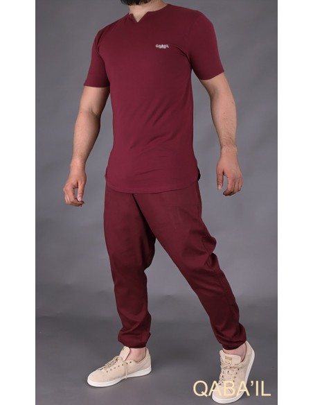 Sarouel Pants Summer Bordeaux-Qaba'il