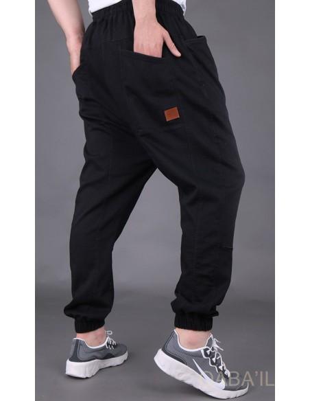 Sarouel Jeans Stretch Noir-Qaba'il