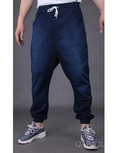 Sarouel Jeans Stretch Bleu foncé -Qaba'il