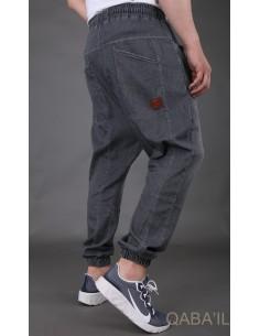 Sarouel Jeans Stretch Gris -Qaba'il