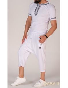 Tee Shirt Etniz Blanc et Noir-Qaba'il