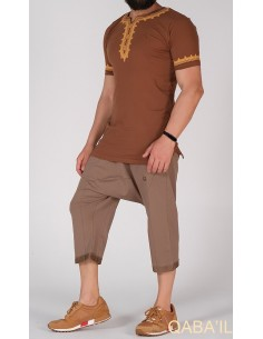 Tee Shirt Etniz Marron-Qaba'il