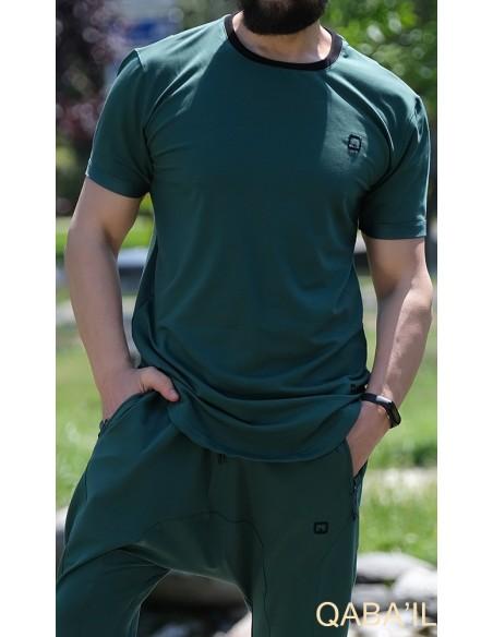 Tee Shirt Nautik Vert Bouteille-Qaba'il