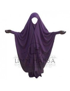 Jilbab 2 pièces à clips Prune - Umm Hafsa
