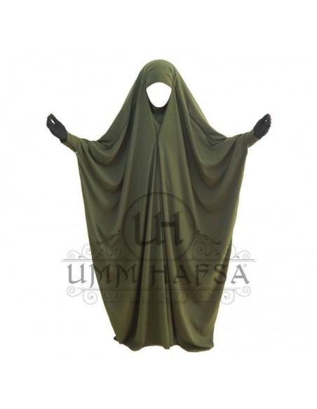 Jilbab Saoudien Umm Hafsa à clips - Kaki