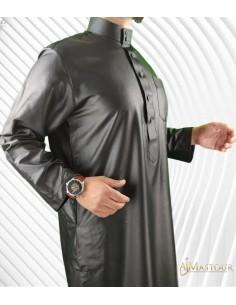 Custom Qamis Saoudien Gris Foncé