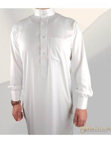 Qamis Custom Qamis Saoudi Classic blanc