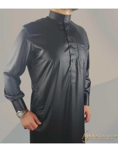 Qamis Saoudien Noir -Émirats collection