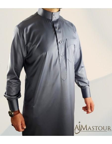 Custom Qamis Saoudien Gris