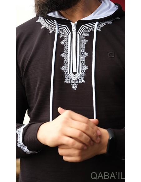 Sweat Etniz Marocco Up Noir-Qaba'il