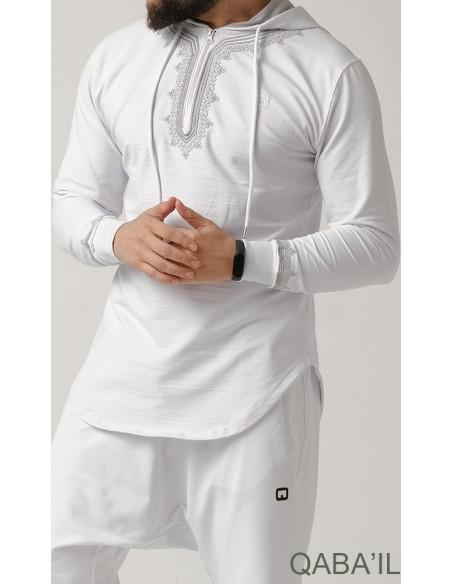 Sweat Etniz Marocco Up Blanc-Qaba'il