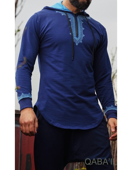 Sweat Etniz Marocco Up bleu-Qaba'il