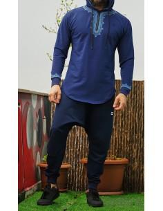 Sweat Etniz Marocco Up bleu-Qaba'il