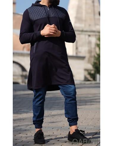Qamis Court Mytik Bleu-Qaba'il